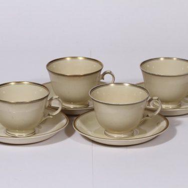 Arabia Ihanne kahvikupit, 4 kpl, suunnittelija ,