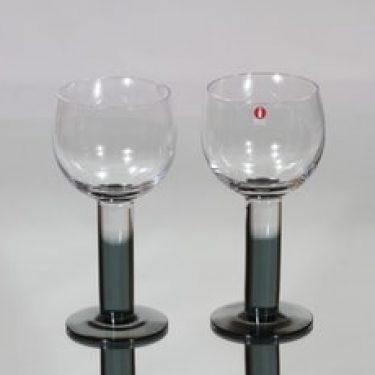Nuutajärvi Mondo viinilasit, 24 cl, 2 kpl, suunnittelija Kerttu Nurminen, 24 cl