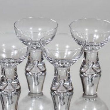 Iittala Tapio lasit, kirkas, 4 kpl, suunnittelija Tapio Wirkkala, hiottu