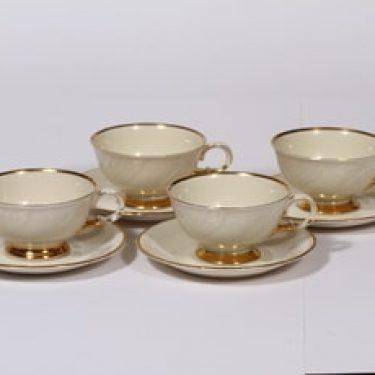 Arabia Kultakoriste kahvikupit, 4 kpl, suunnittelija , kultakoriste