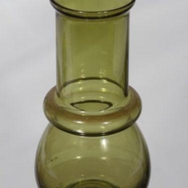 Riihimäen lasi Tuulikki maljakko, vihreä, suunnittelija Tamara Aladin,