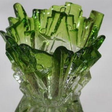 Humppila maljakko, vihreä, suunnittelija Pertti Santalahti, signeerattu, retro