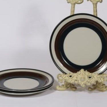 Arabia Kaira lautaset, matala, 3 kpl, suunnittelija Anja Jaatinen-Winqvist, matala, raitakoriste