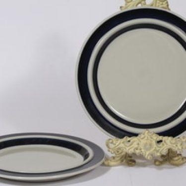 Arabia Anemone lautaset, matala, 2 kpl, suunnittelija Ulla Procope, matala, raitakoriste