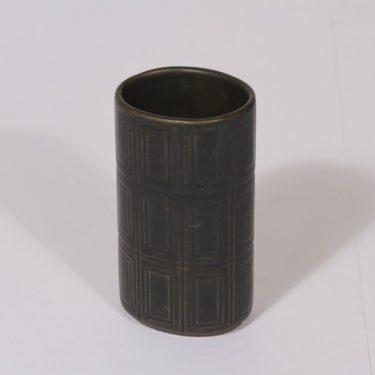 Arabia 400 maljakko, ruskea lasite, suunnittelija Göran Bäck, pieni, funktionalismi