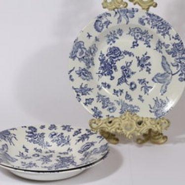 Arabia Dorothea lautaset, syvä, 3 kpl, suunnittelija , syvä, kuparipainokoriste