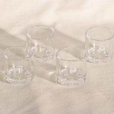 Riihimäen lasi Lumitähti snapsilasit, kirkas, 4 kpl, suunnittelija Nanny Still,
