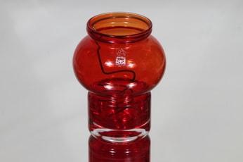 Riihimäen lasi Välkky kynttilälyhty, punainen, suunnittelija Tamara Aladin, pieni