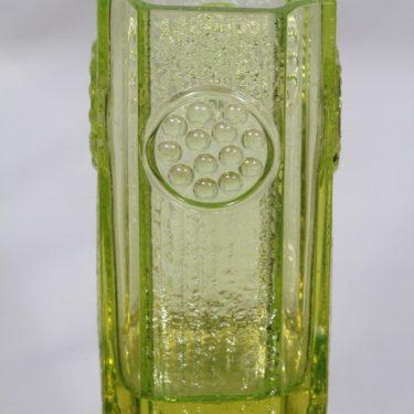 Riihimäen lasi Rondella maljakko, keltainen, suunnittelija Tamara Aladin, massiivinen