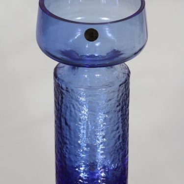 Riihimäki glass Safari vase, blue, Tamara Aladin