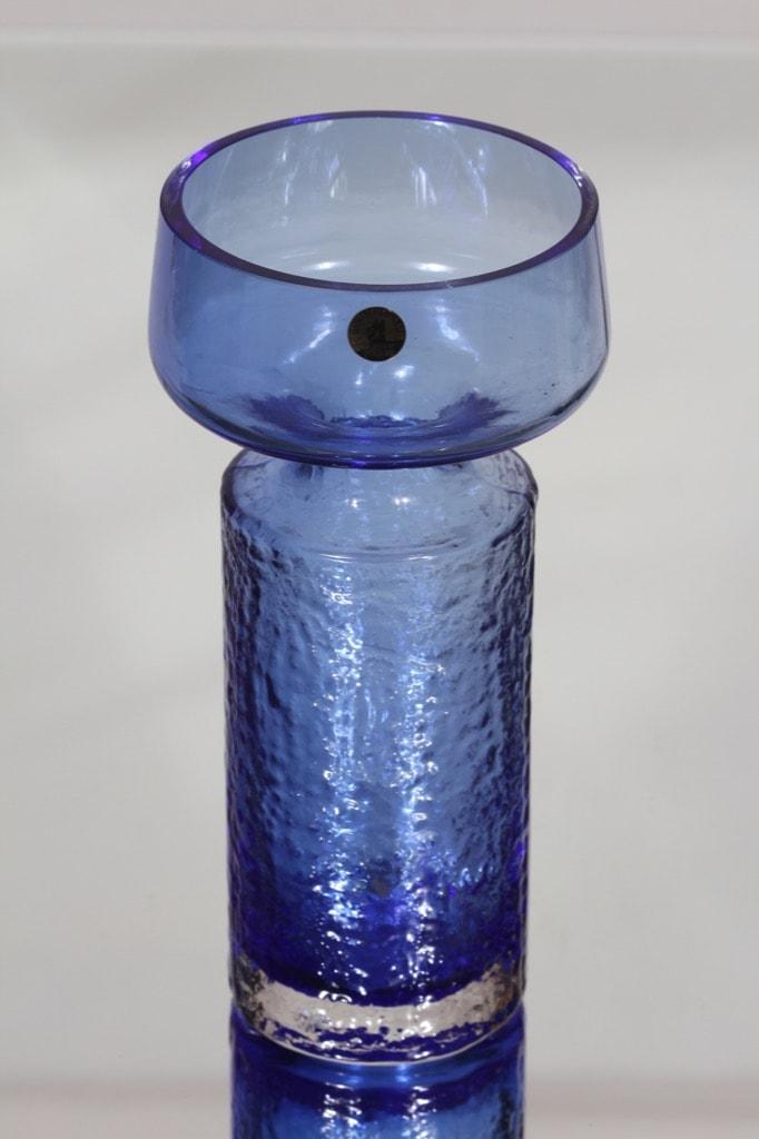 Riihimäen lasi Safari maljakko, sininen, suunnittelija Tamara Aladin,