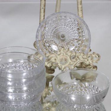 Riihimäen lasi Merja jälkiruokakulhot, kirkas, 6 kpl, suunnittelija Tamara Aladin,