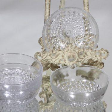 Riihimäen lasi Merja jälkiruokakulhot, kirkas, 4 kpl, suunnittelija Tamara Aladin,