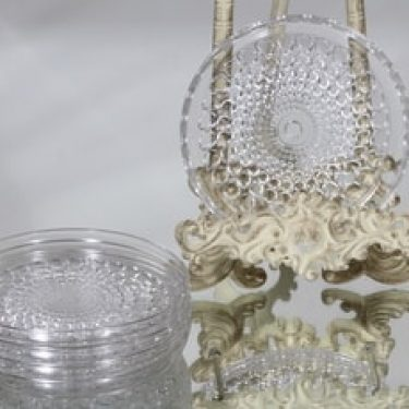 Riihimäen lasi Merja lautaset, kirkas, 5 kpl, suunnittelija Tamara Aladin, pieni
