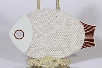 Arabia Kala talouslevy, ruskea, suunnittelija , serikuva