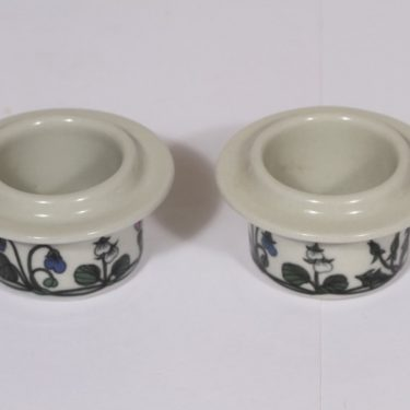 Arabia Flora egg cups, 2 pcs, designer Esteri Tomula, silk screening, flower theme