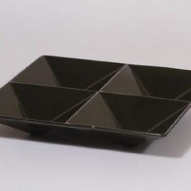 Arabia KF 1 lokerovati, musta lasite, suunnittelija Kaj Franck,