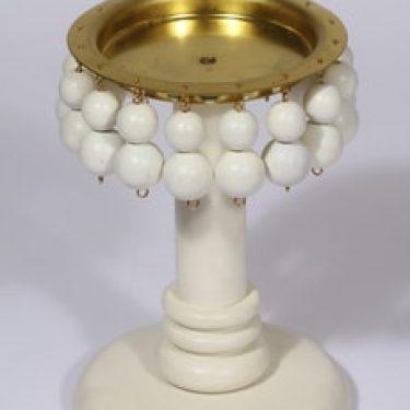 Aarikka kynttilänjalka, valkoinen, suunnittelija ,