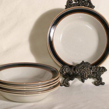 Arabia Taika lautaset, syvä, 6 kpl, suunnittelija Inkeri Seppälä, syvä