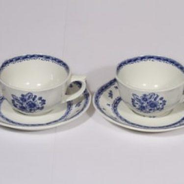 Arabia Suomen kukka kahvikupit, sininen, 2 kpl, suunnittelija , kuparipainokoriste