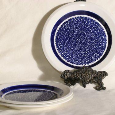 Arabia Faenza lautaset, 3 kpl, suunnittelija Inkeri Seppälä,