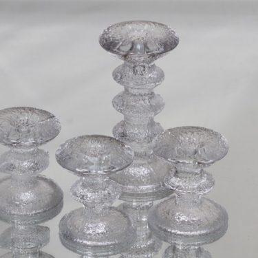 Iittala Festivo kynttilänjalat, eri kokoja, 4 kpl, suunnittelija Timo Sarpaneva, eri kokoja