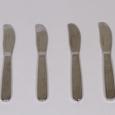 Hackman Scandia veitset, 4 kpl, suunnittelija Kaj Franck, teräs