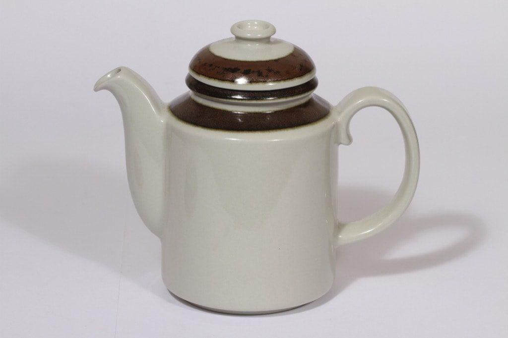 Arabia Karelia kahvikaadin, 1 l, suunnittelija Anja Jaatinen-Winquist, 1 l, raitakoriste