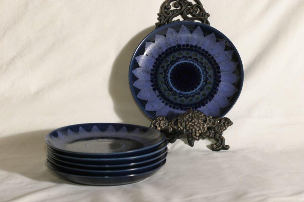 Arabia Kuutamo plates, hand-painted, 2 pcs, designer Hilkka-Liisa Ahola