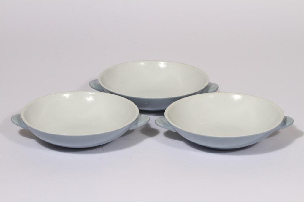 Arabia dessert bowls, light blue, 3 pcs