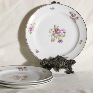 Arabia AR lautaset, kukkakuvio, 4 kpl, suunnittelija , kukkakuvio, siirtokuva