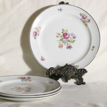 Arabia AR plates, flower pattern, 4 pcs, transfer