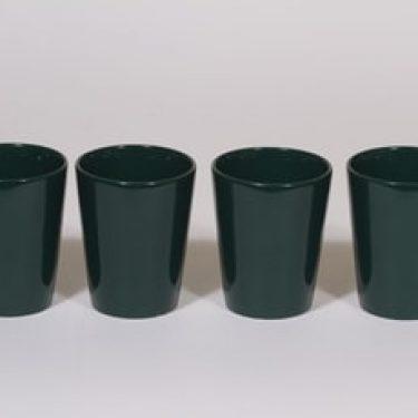 Arabia Kilta mukit, vihreä, 4 kpl, suunnittelija Kaj Franck,