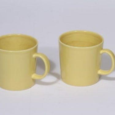 Arabia Teema mukit, keltainen, 2 kpl, suunnittelija Kaj Franck,