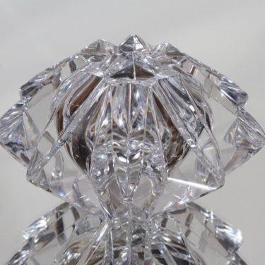 Riihimäen lasi Tähti taide-esine, signeerattu, suunnittelija Aimo Okkolin, signeerattu, massiivinen, hiottu