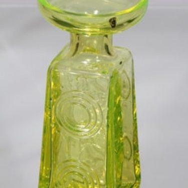 Riihimäen lasi Auringonkukka maljakko, keltainen, suunnittelija Tamara Aladin,