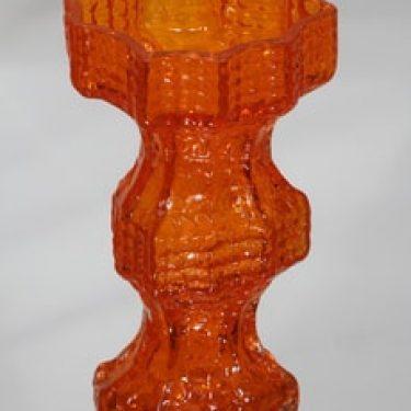 Riihimäen lasi Fenomena maljakko, oranssi, suunnittelija Nanny Still, retro
