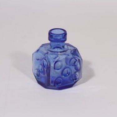 Riihimäen lasi Arpa on heitetty maljakko, sininen, suunnittelija Erkkitapio Siiroinen, pieni