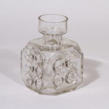 Riihimäen lasi Arpa on heitetty maljakko, kirkas, suunnittelija Erkkitapio Siiroinen,