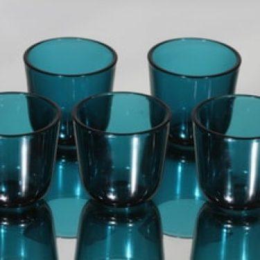 Nuutajärvi 5023 lasit, 8 cl, 5 kpl, suunnittelija Kaj Franck, 8 cl, pieni