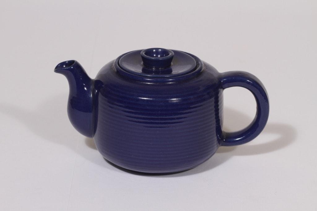 Arabia MS 1 teekaadin, sininen, suunnittelija Michael Schilkin, pieni