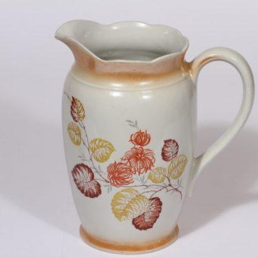 Arabia kukkakuvio kaadin, 1.5 l, suunnittelija , 1.5 l, suuri, siirtokuva, kultafondi|kukka-aihe