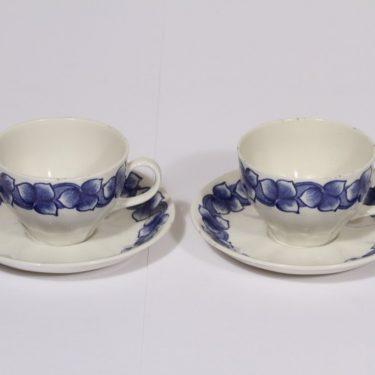 Arabia Rinki coffee cup, blue, 2 pcs, Raija Uosikkinen