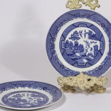 Arabia Willow lautaset, matala, 2 kpl, suunnittelija , matala, kuparipainokoriste
