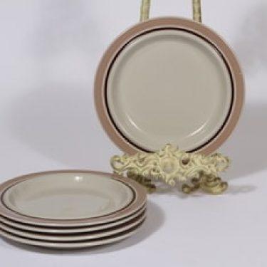 Arabia Koralli lautaset, vaaleanpunainen, 5 kpl, suunnittelija Raija Uosikkinen, pieni