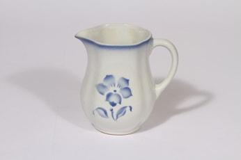 Arabia Nina kaadin, sininen, suunnittelija , pieni, puhalluskoriste, Kukka-aihe