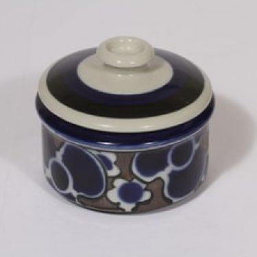 Arabia Saara sokerikko, sininen, suunnittelija Anja Jaatinen-Winquist, puhalluskoriste, retro