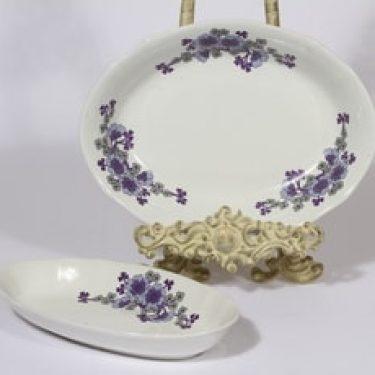 Arabia kukkakuvio kulhot, lila, 2 kpl, suunnittelija , serikuva