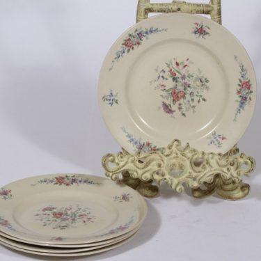 Arabia lautaset, 5 kpl, suunnittelija , pieni, siirtokuva
