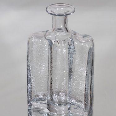 Riihimäen lasi Railo koristepullo, kirkas, suunnittelija Nanny Still,